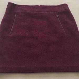 Burgundy skirt- waist to hem 19 inches